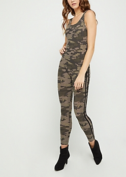 Camo Striped Jumpsuit