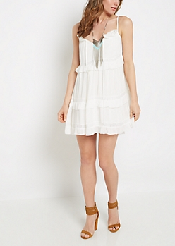 Ruffled Tiered Babydoll Dress