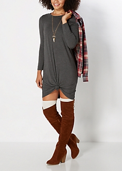 Knotted Front Mini Dress