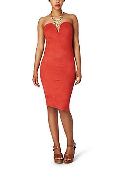 Microsuede Bodycon Dress