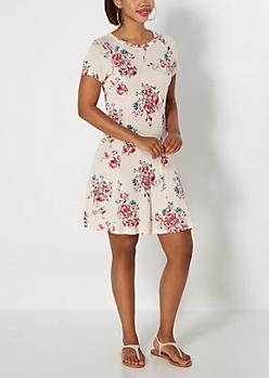 Ivory Rosy Princess Skater Dress