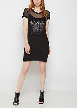Free Spirit Tour Mesh T-Shirt Dress