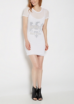 Berlin Tour Mesh T-Shirt Dress