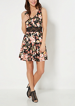 Flower Garden Illusion Skater Dress