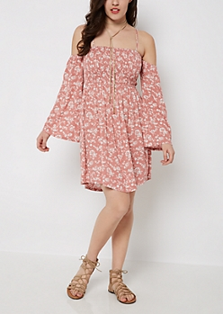 Folklore Floral Off-Shoulder Dress