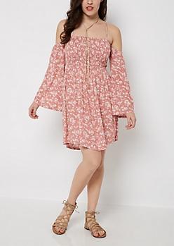 Folklore Floral Off-Shoulder Dress