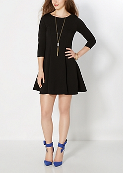 Ripple Effect Skater Dress