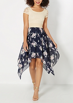 Budding Rose Lace Dress
