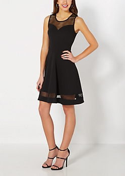 Mesh Illusion Fit & Flare LBD