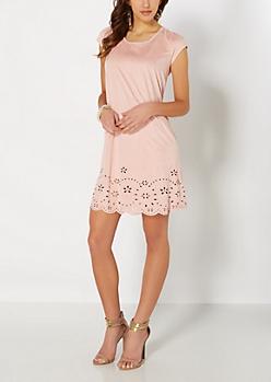 Light Pink Cut-Out Swing Dress