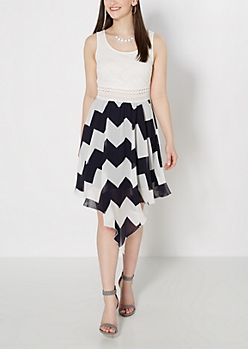 Chevron Illusion Hanky Dress