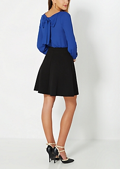 Royal Blue Wrapped With A Bow Dress