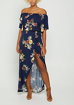 Wildflower Off Shoulder Maxi Dress