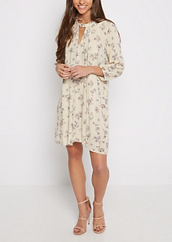 Wildflower Gauze Keyhole Dress