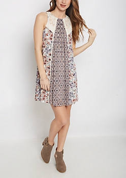 Folklore Peony Shift Dress By Clover + Scout