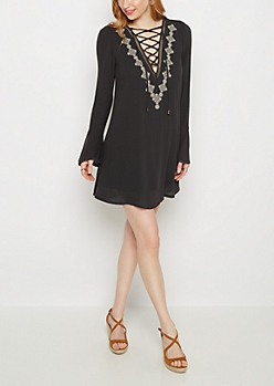 Medallion Chiffon Shift Dress By Clover + Scout®