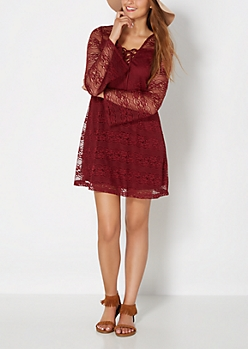Embraced by Lace Shift Dress