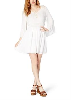 Ivory Heaven Sent Chiffon Dress