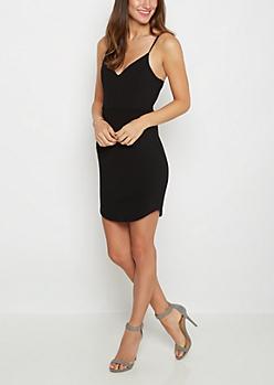 Black Cami Ponte Mini Dress