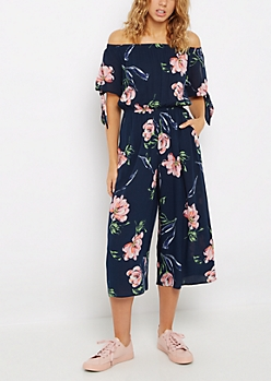 Floral Off-Shoulder Jumpsuit