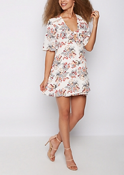 Wildflower Deep V Neck Dress