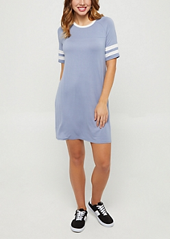 Light Blue Varsity Swing Dress