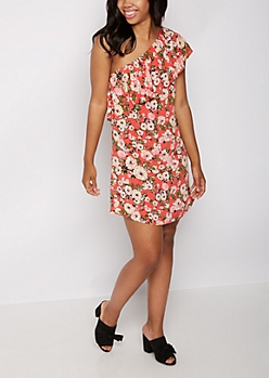 Wildflower Flounce One-Shoulder Dress