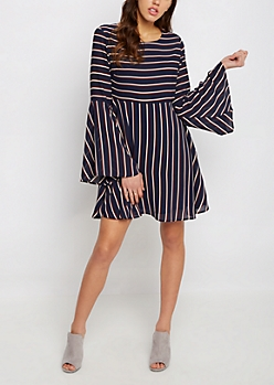 Striped Babydoll Dress By Sadie Robertson X Wild Blue