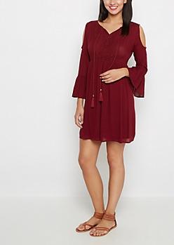 Burgundy Boho Dress by Sadie Robertson x Wild Blue™