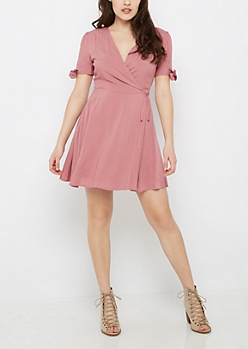 Pink Wrap Dress by Sadie Robertson x Wild Blue