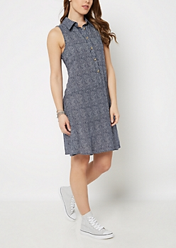 Striped Sleeveless Shirt Dress by Sadie Robertson x Wild Blue