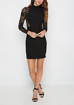 Lace Hourglass Bodycon Dress