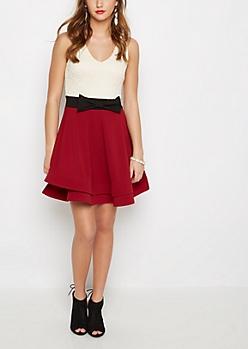 Lace Tank Layered Skirt Dress