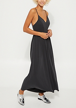 Charcoal Gray Wide Leg Jumpsuit