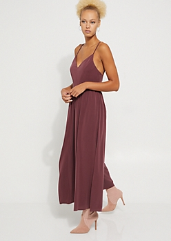 Purple Wide Leg Jumpsuit