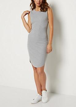 Heather Gray Rib Knit Tank Dress