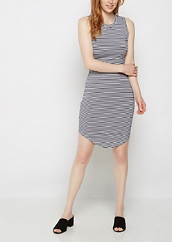Striped Jersey Tank Dress