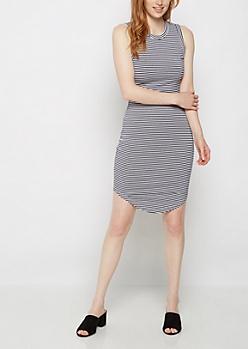 Striped Jersey Tank Dress