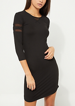 Shadow Striped Varsity Dress