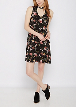 Wildflower Keyhole Swing Dress