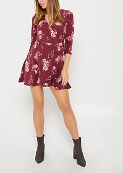 Floral Hacci Wrap Dress