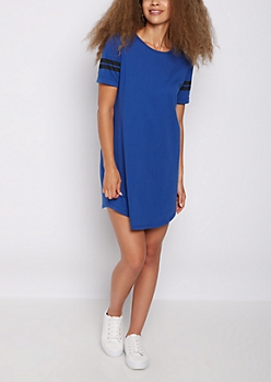 Royal Blue Athletic T Shirt Dress