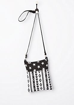 Americana Tribal Canvas Crossbody Bag