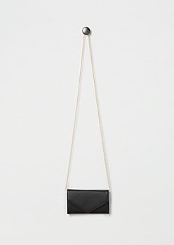 Black Envelope Crossbody Mini Bag