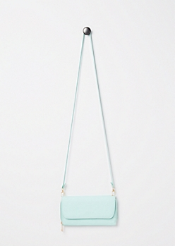 Mint Faux Leather Crossbody