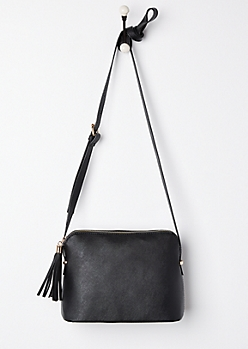 Black Tasseled Crossbody Bag