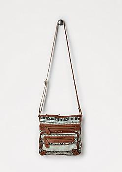 Mint Elephant Crossbody Bag