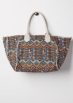 Batik Canvas Overnight Bag