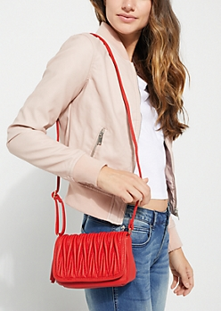 Scrunched Crossbody Bag