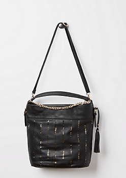 Black Golden Triangle Satchel
